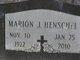 Marion J <I>Janzen</I> Henschel