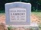 Lelia Hattie <I>Poston</I> Lambert