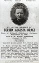 Bertha Augusta <I>Johanning</I> Brake