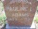 Profile photo:  Pauline L <I>Sizemore</I> Adams
