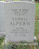 """Sophia """"Sophie"""" <I>Schwartz</I> Alpern"""