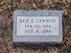 Profile photo:  Ben Franklin Cannon