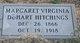 Profile photo:  Margaret Virginia <I>DeHart</I> Hitchings