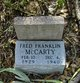 Fred Franklin McCarty