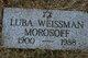 Lillian (Luba) <I>Weissman</I> Morosoff