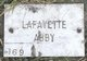Profile photo:  Lafayette Abby