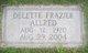 Nancy Delette <I>Frazier</I> Allred