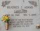 Profile photo:  Beatrice J. Adams