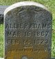 "Profile photo:  Alice H ""Allie"" Adams"