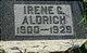 Profile photo:  Irene Jane <I>Chapman</I> Aldrich