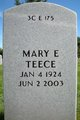 Profile photo:  Mary E <I>Hamilton</I> Teece