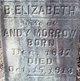 "B. Elizabeth ""Betsy"" <I>Absher</I> Morrow"
