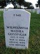 Wilhelmina Mathea <I>Stijn</I> Geissinger