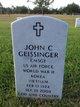 CMSGT John Charles Geissinger