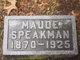 Maude Udella <I>Stouffer</I> Speakman