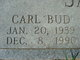"Profile photo:  Carl ""Bud"" Jackson"