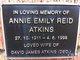 Annie Emily <I>Reid</I> Atkins