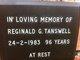 Reginald George Tanswell