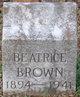 Profile photo:  Beatrice Brown