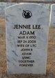 Jennie May <I>Lee</I> Adam