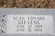 Profile photo:  Alan Edward Stevens