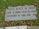"""Profile photo:  Allie May """"Alice"""" Arey"""
