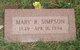 Mary R. Simpson