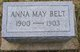 Profile photo:  Anna May Belt
