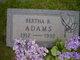 Profile photo:  Bertha Adams