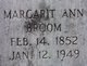 Margaret Ann <I>Carroll</I> Broom