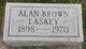 Profile photo:  Alan Brown Laskey