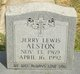 Profile photo:  Jerry Lewis Alston