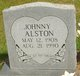 Profile photo:  Johnny Alston