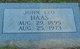John Leo Haas