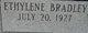 "Profile photo:  Iowana ""Ethylene"" ""Donna"" <I>Bradley</I> Collins"