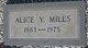 Profile photo:  Amie Alice <I>Yates</I> Miles