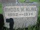 Rhoda M <I>Warrensford</I> Kline