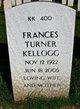 Frances Belle <I>Turner</I> Kellogg