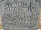 Profile photo:  Matilda L Abernethy