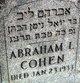 Profile photo:  Abraham Cohen