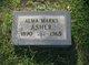 Alma <I>Marks</I> Asher