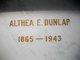 Profile photo:  Althea Estelle <I>Hickman</I> Dunlap