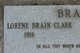 Lorene Evelyn <I>Walker</I> Brain Clark
