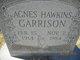Profile photo:  Agnes <I>Hawkins</I> Garrison