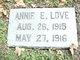 Profile photo:  Annie E Love