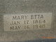 Profile photo:  Mary Etta <I>Childress</I> Carter
