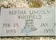 Bertha <I>Lincoln</I> Whitfield