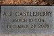 Profile photo:  A. J. Castleberry