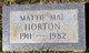 Mattie Mae Horton