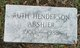 Profile photo:  Ruth <I>Henderson</I> Abshier